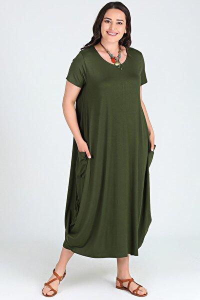 Kadın Kısa Kol Jumbo Elbise M9139