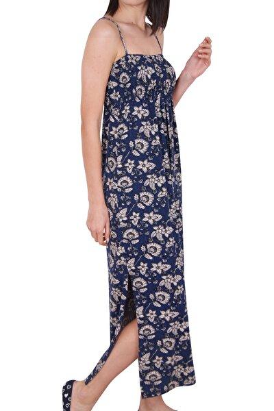 Kadın Tunik Ev Elbisesi İp Askılı Viskon