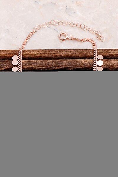 Pullu Rose Gümüş Halhal 230