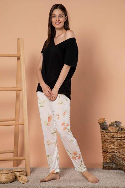 Kadın Desenli Mevsimlik Ince Tek Pijama Altı