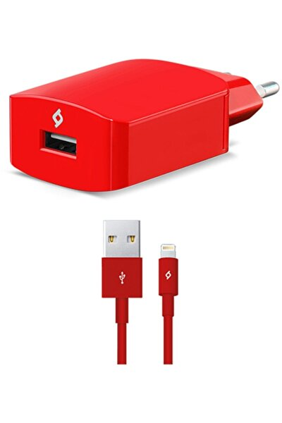 SpeedCharger Seyahat 2.1A iPhone Hızlı Şarj Aleti Kırmızı