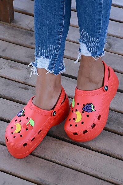Kırmızı Kadın Sandalet A246-19