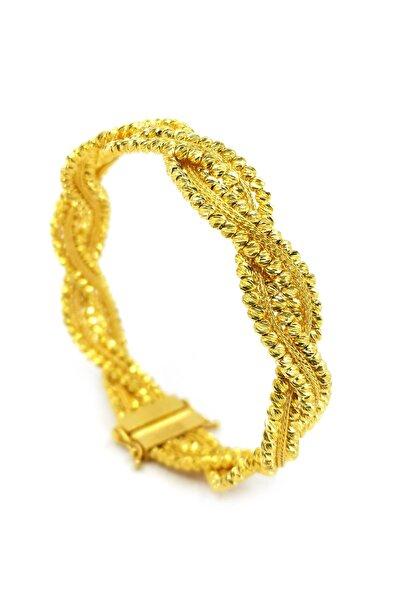 Kadın Hasır Kelepçe Altın Bilezik BL09800