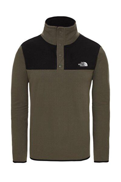 Tka Glacier Snap Neck Pullover Erkek Sweatshirt Siyah