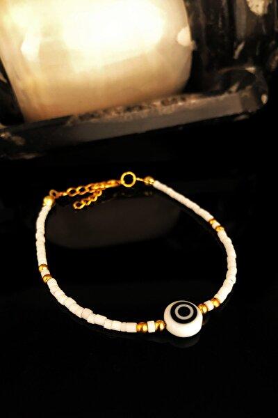 Doğaltaş Kadın Havlit Taşı Altın Kaplama Bileklik KRB430