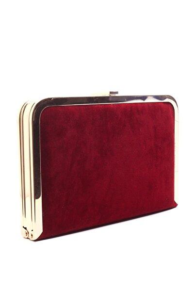 Kırmızı Kadın Clutch Çanta
