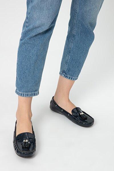 Lacivert Kadın Loafer Ayakkabı
