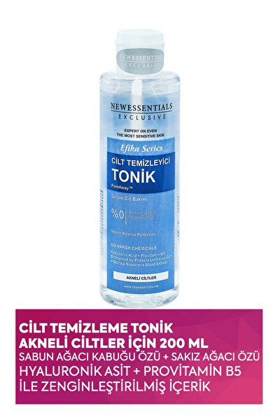 Efika Serisi Cilt Temizleme Toniği Akneli Ciltler 200 ml 8682079030137