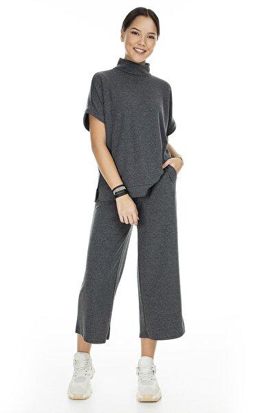 Kadın Mat Füme Örme Pantolon 10222549 VMFALLULAH 10222549