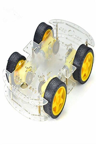 Arduino 4wd Araç Şase Kiti Robot Araba Kiti
