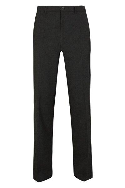 Erkek Gri Regular Streç Ekose Pantolon T18004234Y