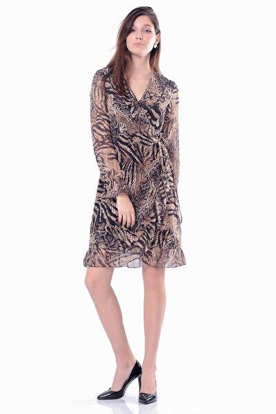 Kadın Siyah Volanlı  Blazer Elbise 5295-1328