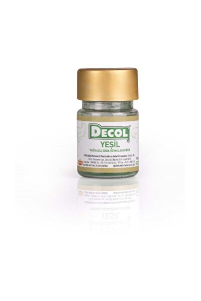 Decol Yeşil Yağ Bazlı Gıda Boyası 7 gr