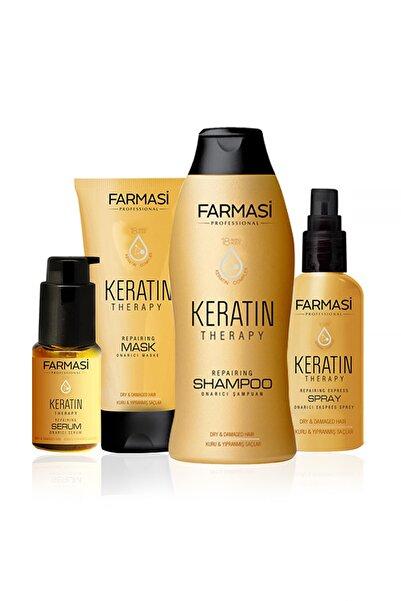 Keratin Theraphy 4'lü Onarıcı Saç Bakım Seti - Şampuan + Maske + Sprey + Serum 9502900099999