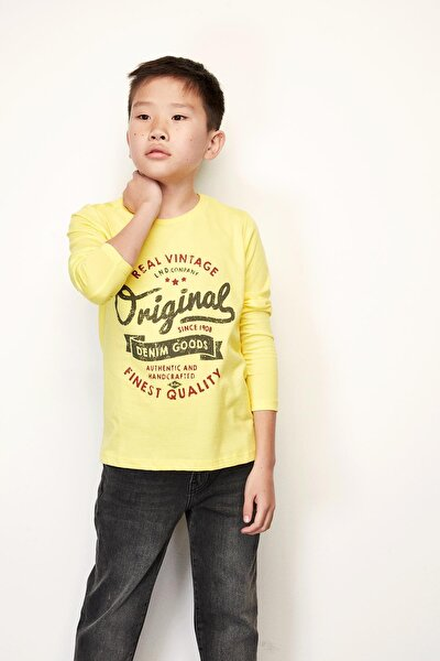 Sarı Erkek Çocuk Sweatshirt
