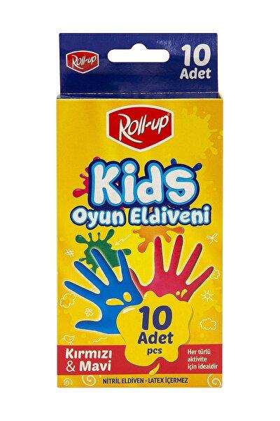 Nitril Kids Oyun Eldiveni Kırmızı&Mavi 10'lu