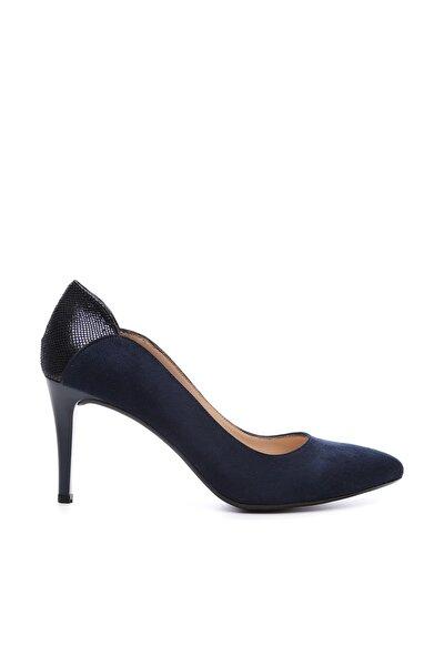 Lacivert Kadın Vegan Klasik Topuklu Ayakkabı 723 001 BN AYK Y19