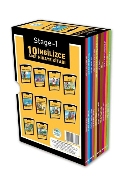 Stage-1 Ingilizce Hikaye Seti 10 Kitap Maviçatı Yayınları