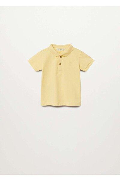 Erkek Bebek Sarı Pamuklu T-shirt