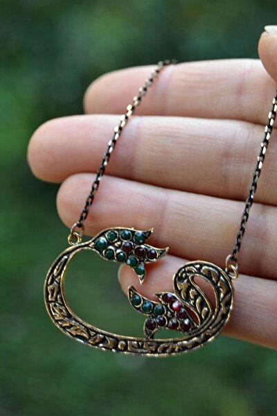 Jewellery Lal Doğal Taş Vav Bayan Kolye