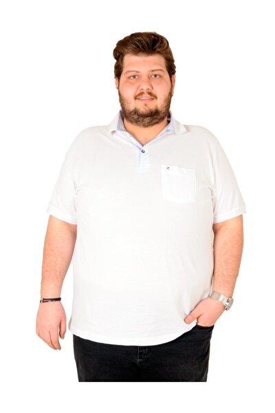T-shirt Polo Yaka Cepli Klasik Pike 18552 Beyaz