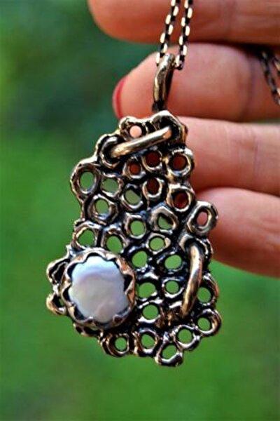 Jewellery Özel Tasarım Gerçek İnci Doğal Taş Bayan Kolye