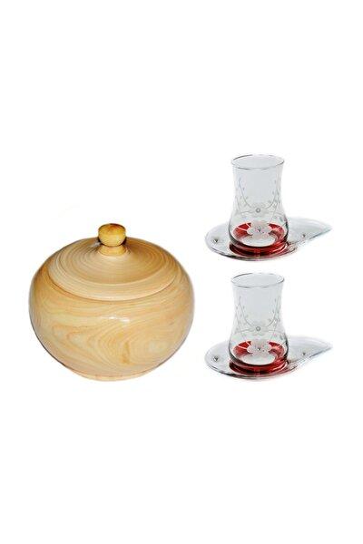 13 Parça Doğa (kırmızı Taşlı) Çay Seti Takımı