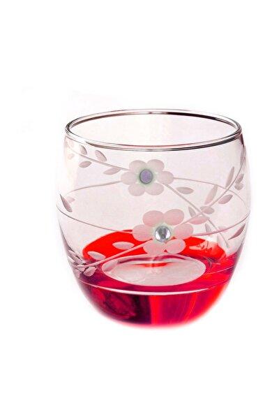 Paşabahçe  41010 Papatya Kırmızı Taşlı  Barel Su-meşrubat Bardağı 6 Adet