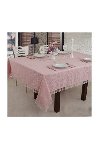 Fransız Güpürlü Masa Örtüsü Pudra