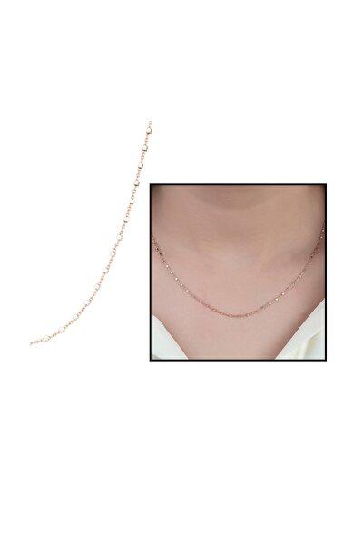925 Ayar Gümüş Kare Toplu Kadın Zincir Kolye 125000016