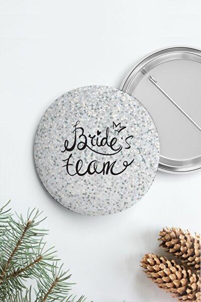 Bekarlığa Veda Brides Team Rozet, Gümüş Parıltılı
