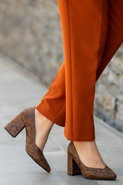 Taba Kadın Topuklu Ayakkabı 002019TA