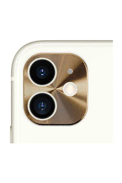 Iphone 11 Kamera Lens Koruma Halkası - Kapalı Tasarım - Gold