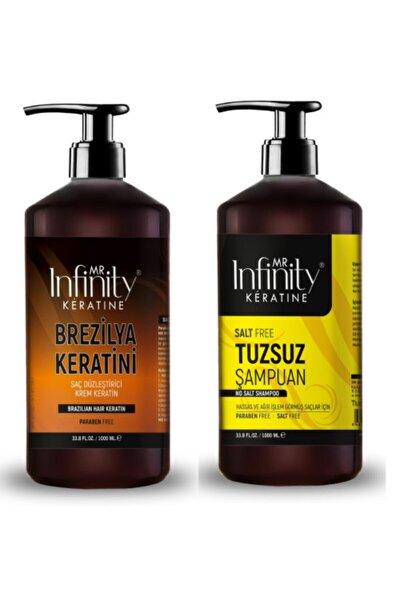 Infinty Exp Saç Düzleştirici Keratin Bakımı + Tuzsuz Şampuan Seti 1000 ml