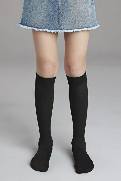 Kız Çocuk Siyah Pretty Mikro 40 Pantolon Çorabı