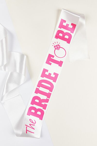 Kadın Beyaz The Bride to Be Kuşağı BRIDESASH-2