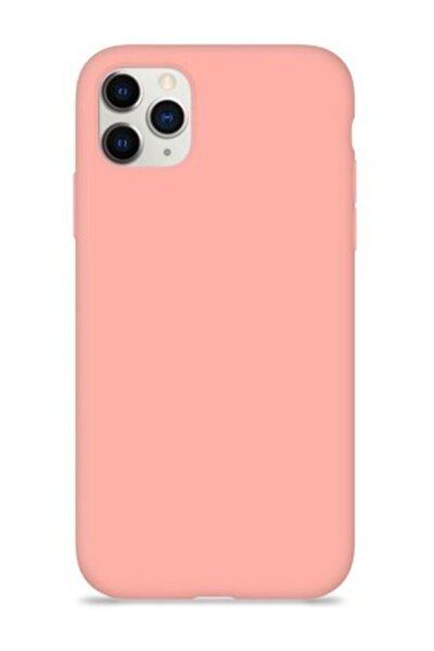 "Iphone 11 Pro Max 6.5"" Içi Kadife Lansman Silikon Kılıf Pembe"