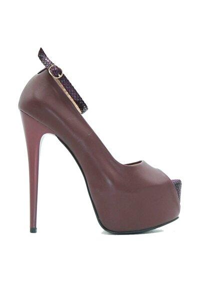 Bordo Kadın Abiye Ayakkabı 0175.0045
