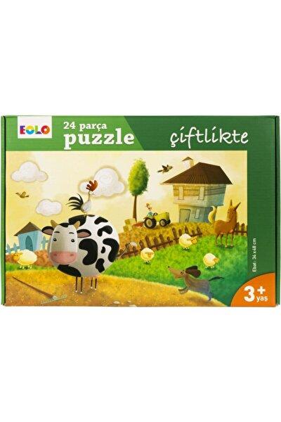 Çiftlikte 24 Parça Puzzle Çiftlikte