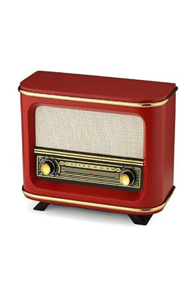Nostaljik Istanbul Model Ahşap Retro Manuel Radyo Kırmızı