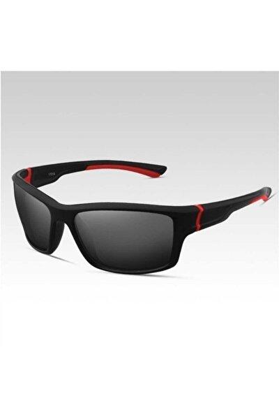 Unisex Siyah Sport Polarize Güneş Gözlüğü