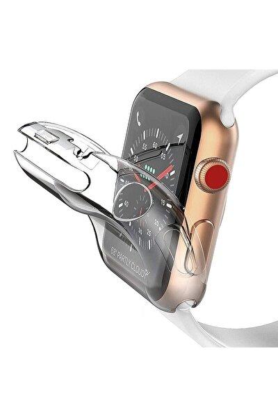 Apple Watch 1 2 3 4 5 6 Se Uyumlu Silikon Kılıf 42mm Şeffaf Watch Tam Koruma