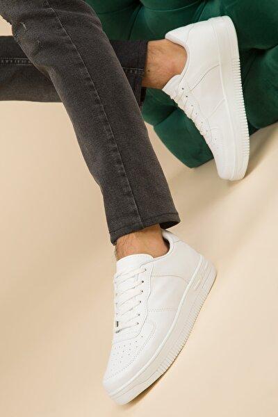 Beyaz Erkek Sneaker 2964