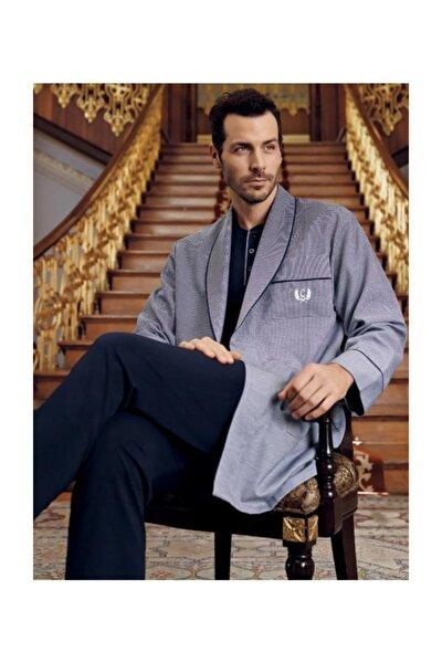 Capsella Erkek 5 Li Damat Çeyiz Lacivert Pijama & Robdöşambır Set 1095
