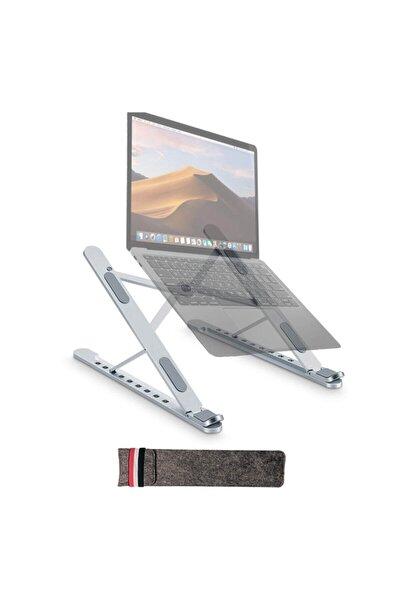 Yeni Nesil Taşınabilir Laptop Macbook Ve Tablet Standı - Alüminyum - 17''e Kadar Uyumluluk