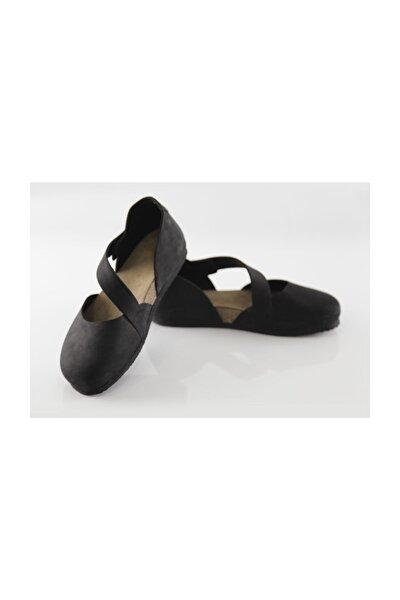 Hakiki Deri Sydney Kadın Siyah Sandalet