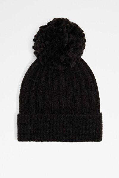 Kaardonna - Siyah Kadın Şapka & Şal & Eldiven
