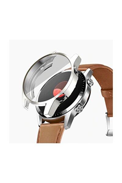 Huawei Watch Gt 2 46 mm 360 Koruma Ultra Ince Silikon Kılıf - Gümüş