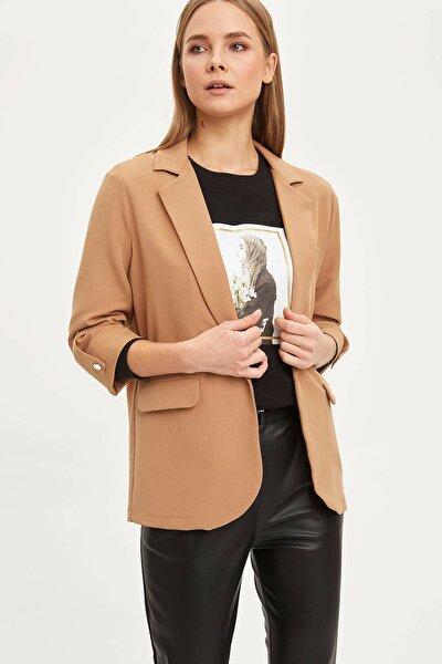 Kadın Bej Regular Fit Basic Blazer Ceket N1286AZ.20SP.BG630