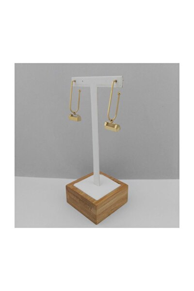 Çelik Halka Küpe - Gold